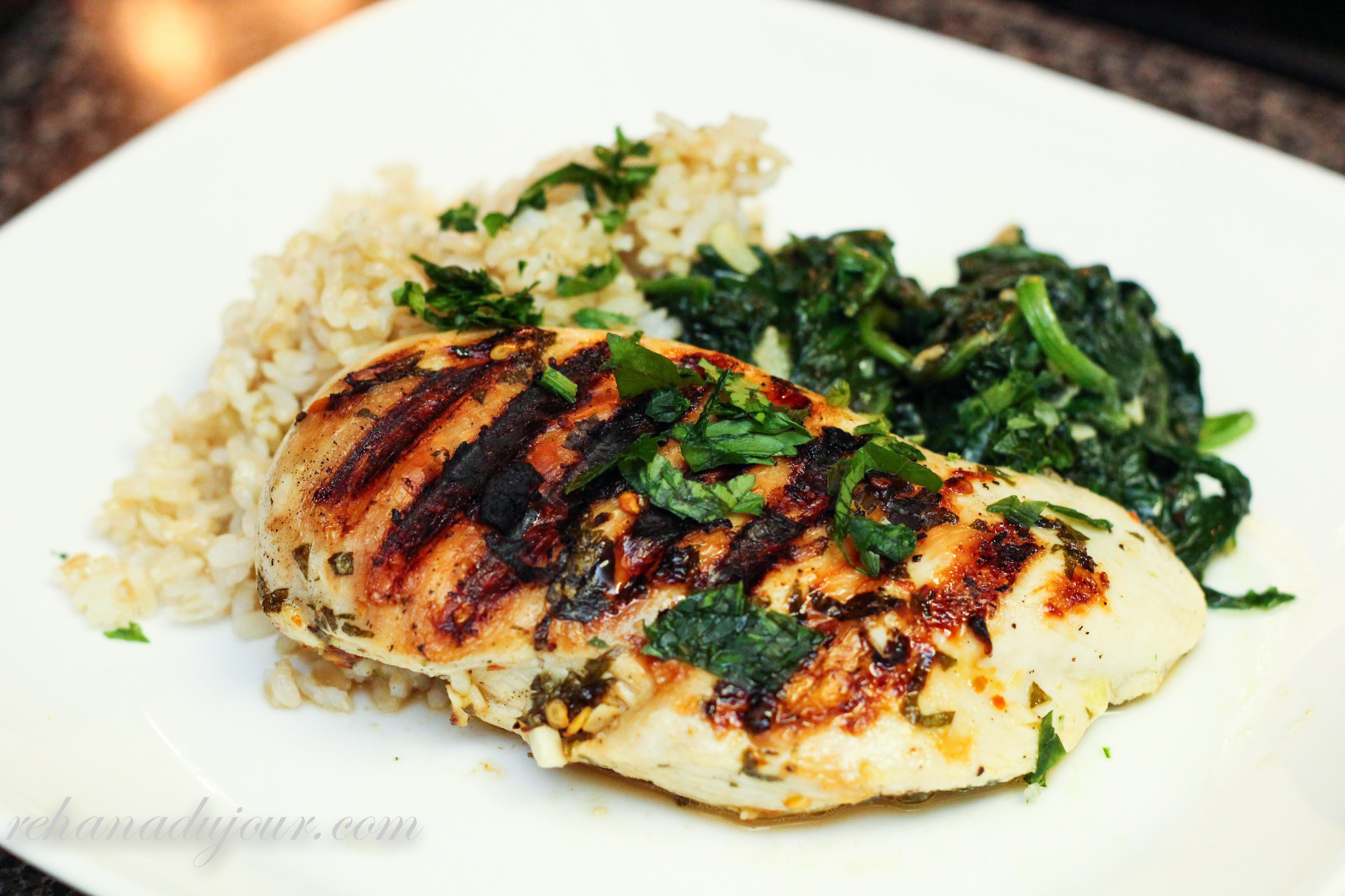... grilled chicken. It's spicy, it's citrus-y, it's garlicky, and