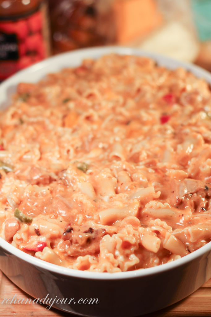 chicken thigh pasta bake-25