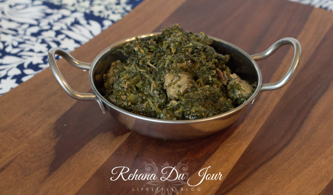 Palak/Saag Gosht…Vegetables + Meat = Pathan Dream